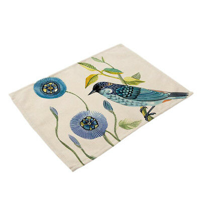 AU10.67 • Buy Table Mats Washable Dining Place Mats Non-slip Bird Printing Placemats
