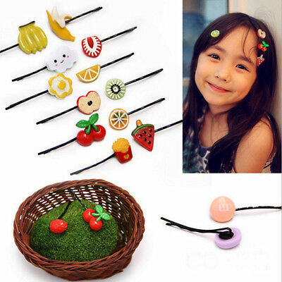 $0.76 • Buy 5pcs Lovely Fruit Baby Hair Pins Clip Girls Cute Bobby Pin Kids Hair Accessories