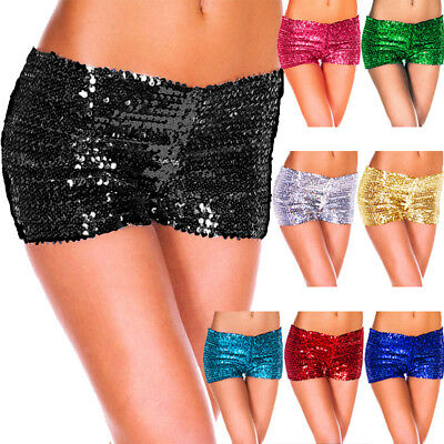 £2.11 • Buy Sexy Womens Mini Shorts Glitter Sequin Stretchy Costume Dance Pants Boxer Briefs