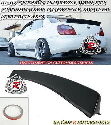 $159.99 • Buy CityKruiser Rear Trunk Spoiler Wing (FRP) Fits 02-07 Subaru Impreza 4dr Sedan