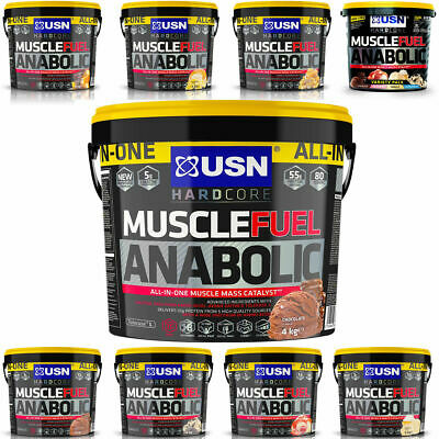 USN Muscle Fuel Anabolic 4000g/4kg/5.32kg/5320g-Hardcore All In One Protein+Del. • 50.99£