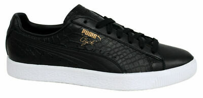 Puma Clyde Dressed Lace Up Black Leather Mens Trainers 361704 01 B63C • 37.99£