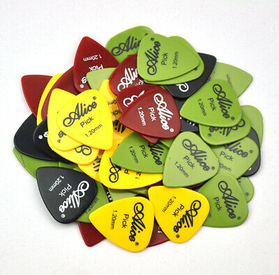 $ CDN15.33 • Buy 100Pcs Alice Heavy 1.2mm ABS Smooth Guitar Picks Plectrum For Electric Guitar