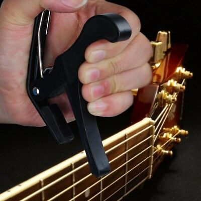 $ CDN9.03 • Buy Quick Change Tune Clamp Key Capo For Acoustic Electric Classical Guitar Black