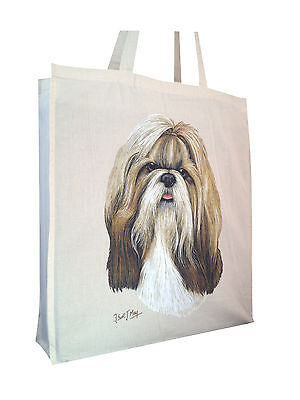 £10.99 • Buy Shih Tzu (b) Cotton Shopping Bag Tote With Gusset And Long Handles Perfect Gift