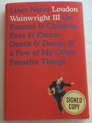 £39.52 • Buy NEW Liner Notes SIGNED By LOUDON WAINWRIGHT III  1st Ed