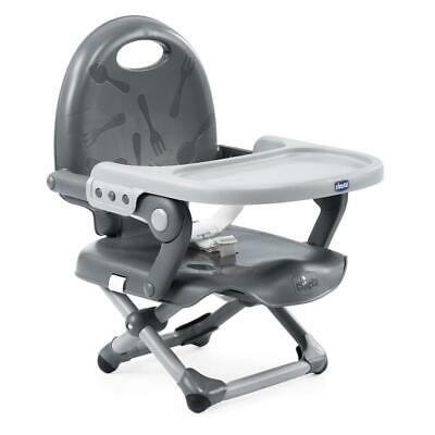 Chicco Pocket Snack Highchair Booster Seat (Dark Grey) From 6 Months • 30£