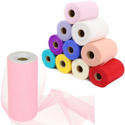 *SALE* Tutu Tulle Rolls 6  Wide X 100Yards Craft Fabric Soft Nylon Netting UK • 2.59£