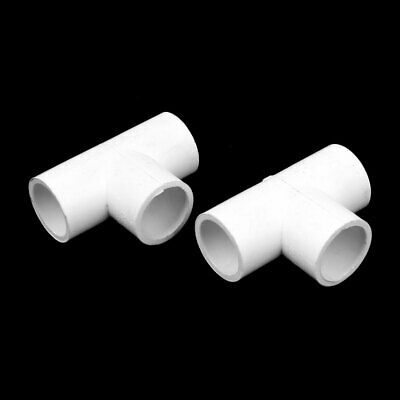 Home, Furniture & DIY PVC Tee Connector Plastic 3-Way Socket Coupler Joint Water Pipe Fitting 20~110mm