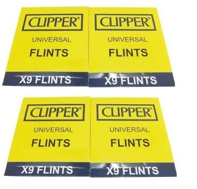 $8.99 • Buy CLIPPER LIGHTER FLINTS - 4X (9 Count) PACKS - 36 Total - Works In Clipper&Zippo