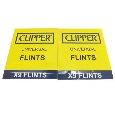$5.99 • Buy CLIPPER LIGHTER FLINTS - 2X (9 Count) PACKS - 18 Total - Work In Clipper & Zippo