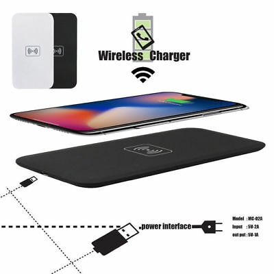 $ CDN6.65 • Buy For IPhone XS MAX X Samsang Qi Wireless Fast Charger Charging Pad Dock Mat Plate