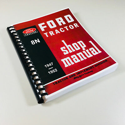$ CDN33.43 • Buy Ford 8n Tractor Service Repair Manual Technical Shop Book 2n 9n Compatible New