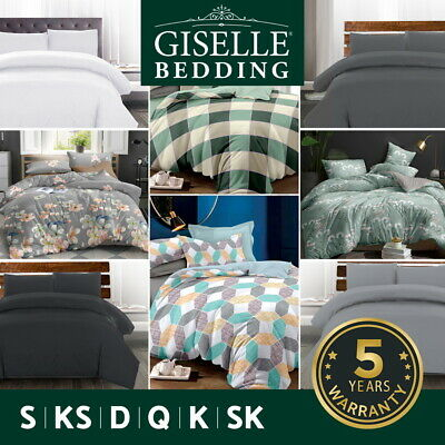 AU33.95 • Buy Giselle Bedding Quilt Cover Set Queen Duvet Doona Sets King Size Classic Hotel