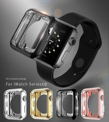 $ CDN3.29 • Buy Apple Watch Series 3/2/1 TPU Bumper IWatch Screen Protector Case Cover 38 42mm