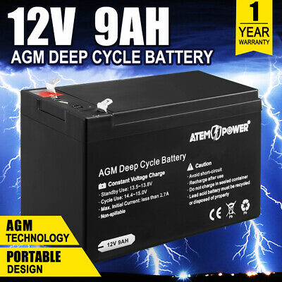 AU34.95 • Buy 9AH AGM Battery 12V AMP Lead Acid SLA Deep Cycle Battery Dual Solar Power