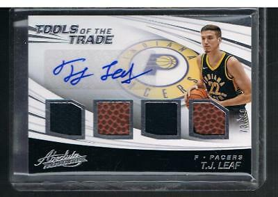 AU50.25 • Buy T.J. LEAF 2017-18 Absolute ROOKIE Tools Of The Trade AUTOGRAPH 73/99 AUTO