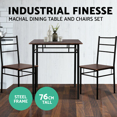AU95.95 • Buy Artiss Dining Table And Chairs Set Kitchen Chair Restaurant Wooden Metal Black