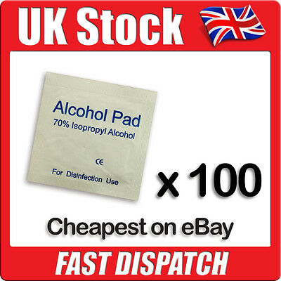 Isopropyl Alcohol Wipes / Swabs For Tattoo, Piercing, Nails (NHS Grade 70% IPA) • 3.99£