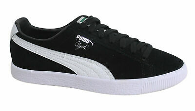 Puma Clyde Lace Up Black Leather Suede Mens Trainers 361703 01 B79C • 34.99£