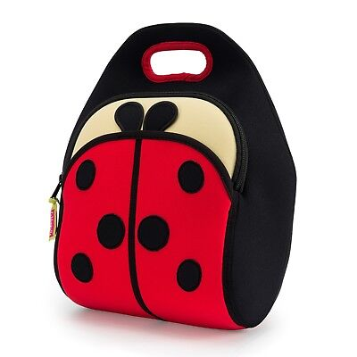 Dabbawalla Bags Ladybug Lunch Bag Girl Preschooler Elementary Insulated Tote Eco • 24.82£