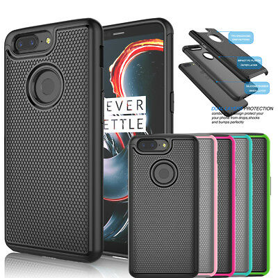 AU8.87 • Buy  For Oneplus 5T Phone Shockproof Armor Hybrid Slim Rubber Impact Hard Case Cover