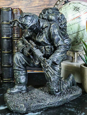 $33.99 • Buy Prayer For Courage Kneeling Soldier Statue Honor & Valor Military Marine Unit