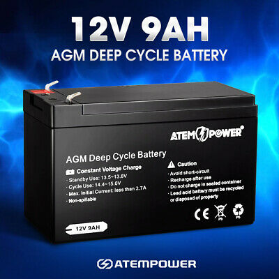 AU34.95 • Buy 12V 9AH AGM Battery AMP Lead Acid SLA Deep Cycle Battery Dual Solar Power