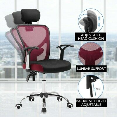 AU109.95 • Buy Executive Mesh Office Computer Chair Breathable Ergo Lumbar Support Work Home RD