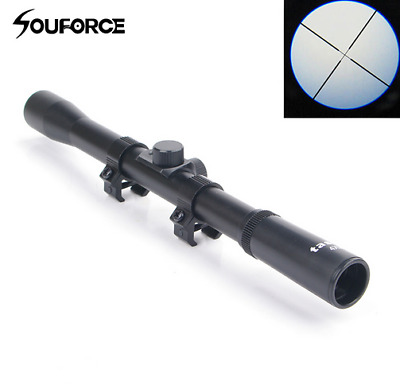 £9.99 • Buy 4X20 Hunting Optic Sniper Scope Reticle Sight For .22 Caliber Rifles Airsoft