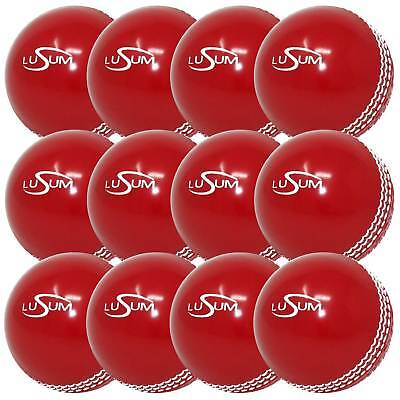 £48.99 • Buy 12 X Lusum Safety 'Incrediball' Cricket Ball Available In Youth And Adult