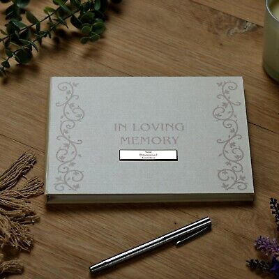 £17.13 • Buy Personalised Memory Funeral Book Remembrance Guest Book FL303-P