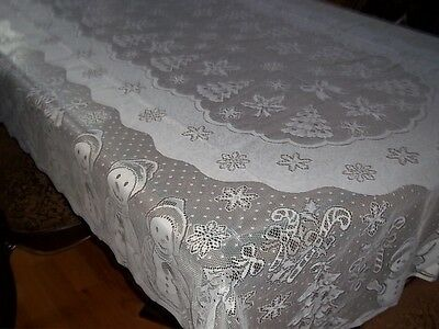 $19.91 • Buy Lace Tablecloth White Snowman 60 X 84 Rectangle Wtcs497 Snow Man Winter