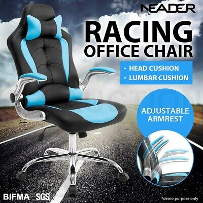 AU179.95 • Buy Executive High Back Gaming Office Computer Racing Chair W/ Removable Headrest