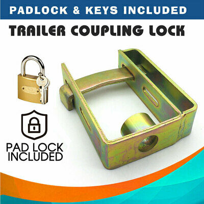 AU21.62 • Buy Heavy Duty Trailer Caravan Coupling Hitch Lock Padlock 2 Stage Locker W/ Keys