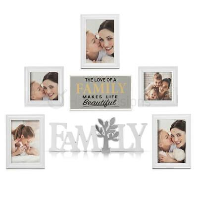 £11.99 • Buy Photo Frame 7Pcs Family Plaque & Mirror Party Wall Mounted Picture Album Posters
