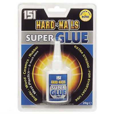 151 Hard As Nails Super Glue Adhesive 20g Extra Strong Ceramic Wood Rubber • 2.19£