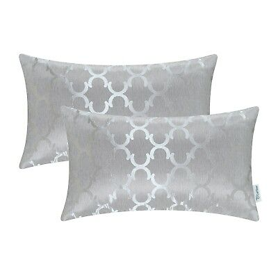 $ CDN16.93 • Buy 2Pcs Rectangle Cushion Cover Bolster Pillow Shell Chains Accent Geometric 12x20