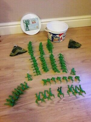 £45 • Buy Toy Story Collection Bucket O Soldiers Green Army Men Blue Cloud Complete VGC