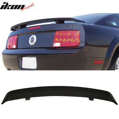 $69.99 • Buy Fits 05-09 Ford Mustang OE Factory Style Trunk Spoiler Unpainted ABS Black Wing