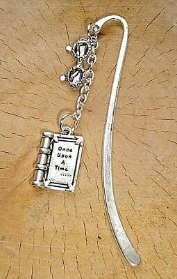 £2.99 • Buy Once Upon A Time Book Reading Glasses Charm Bookmark Silver In Gift Bag