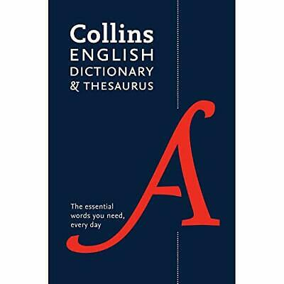 £3.99 • Buy Collins English Dictionary And Thesaurus Book The Cheap Fast Free Post
