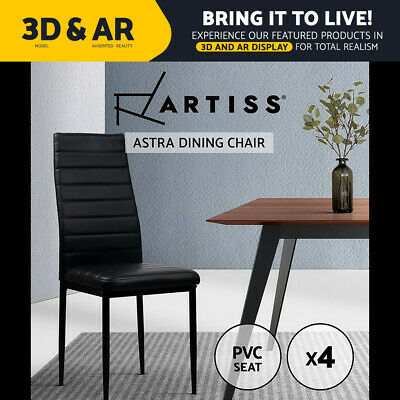 AU119.95 • Buy Artiss 4x Astra Dining Chairs Set Leather PVC Stretch Seater Chairs