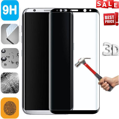 $ CDN2.79 • Buy For Samsung Galaxy S8 HD Tempered Glass FULL COVER Curved Screen Protector