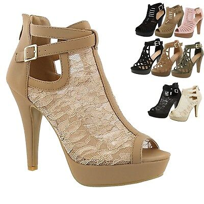 2a87f1c3a08 New Women Gladiator Strappy Chunky Platform High Heel Sandals Party Dress  Shoes • 22.09