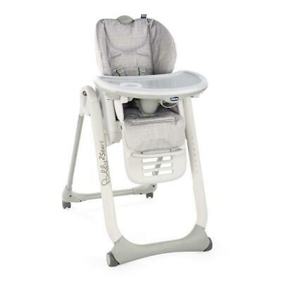 Chicco Polly 2 Start Baby Highchair - 4 Wheels (Happy Silver) Adjustable  • 109£