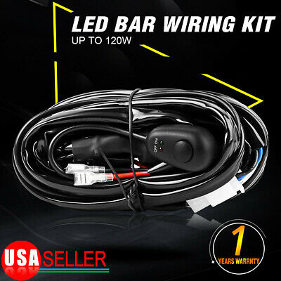 $9.99 • Buy For Off-road Light / Light Bar 8FT Wiring Harness With Switch & Relay