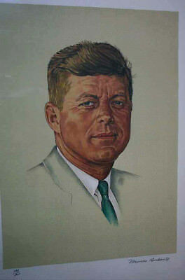 $ CDN2819.70 • Buy John Kennedy  -   11 Color Lithograph -   Signed By Norman Rockwell   - Oct.1976