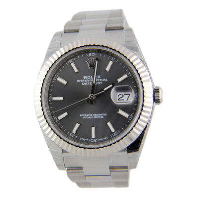 $ CDN14134.03 • Buy Rolex Datejust II 126334 Oyster Steel & 18k White Gold Bezel 41mm Rhodium Grey