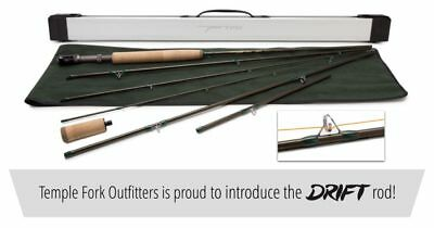 $399.95 • Buy Temple Fork Outfitters Drift 9'-12'3  3 Wt 6pc Adjustable Fly Rod+case Free Ship